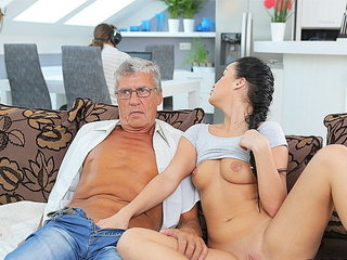 DADDY4K. Naughty girl Erica Black seduces BF's dad to fuck..