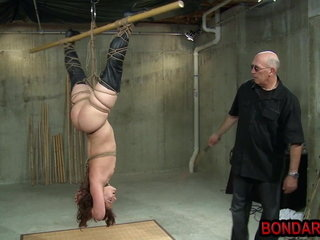 Hogitied upside down and spanked till the ass gets red