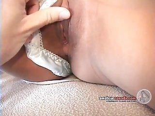 Skinny asian school girl fingered by older dude