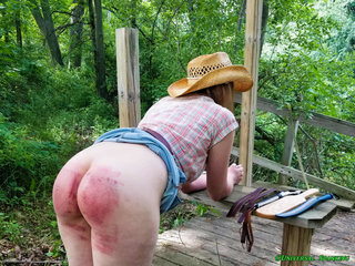 Daughter Flagellated in the Woods!