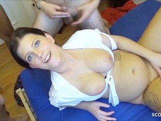Fledgling Gangbang for German Preggie Teenage Katy at GB01