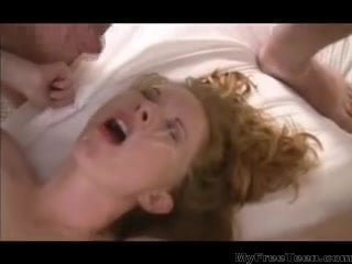 ash-blonde with diminutive gang-fuck with anal