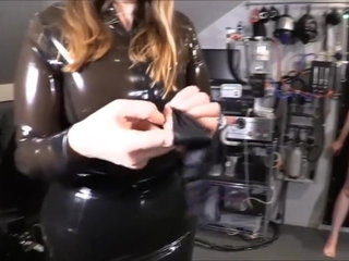 Teenie Marionette Breezy Gets Plugged by Her Domme