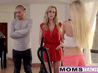 Jizz Craving Teenie Alex Grey Fucks Step-mother & Brother