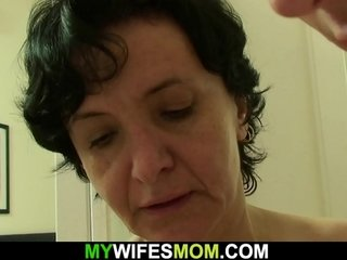 His wooly gfs mummy deep-throats and rides stiffy