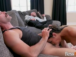 Dirty FAMILY - Precious Teenage Emily Willis Pummels Step Daddy & Step Uncle