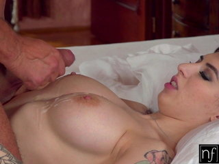 Huge-titted Dark haired Teenie Sheril Blossom Craves Hot Coco And Jizz