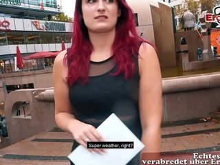 Rothaarige Studentin beim Sexdate Audition in Berlin abgeschleppt EroCom Meeting Story