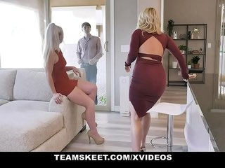 BadMilfs - Decree Daugther Having Triad Close by Mammy together with The brush Meeting